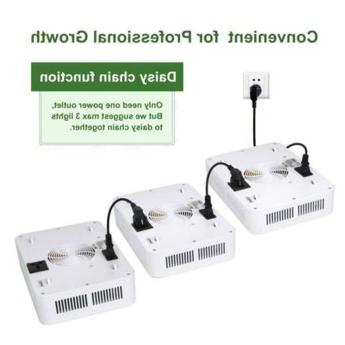 600W Grow LED Light White for Indoor Plant,
