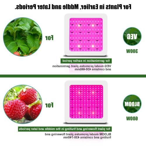 600W LED Grow Hydroponic Lamp Veg Plants