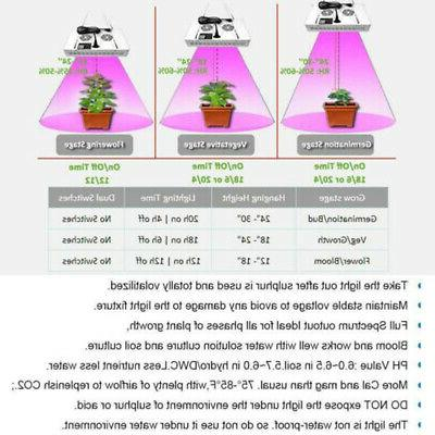 600W LED Grow Light with Monitor Lamp