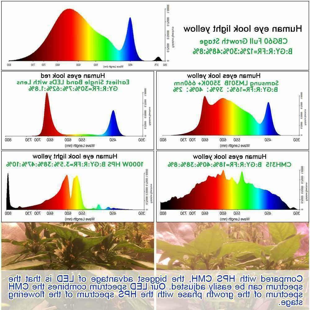 Full LED Grow Plant Flower Hydroponic Lamp IP65
