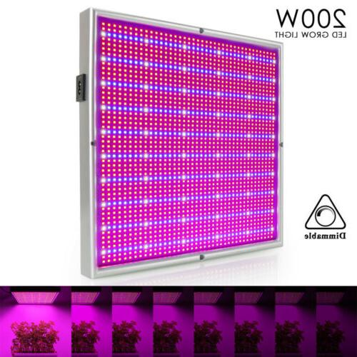 200W LED Full Spectrum Hydroponic Indoor Plant Flower Bloom Growing