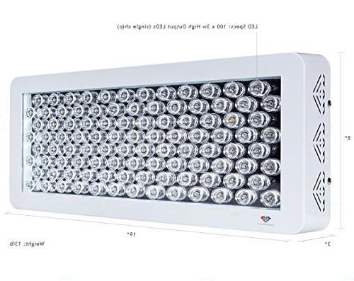 Advanced Full Spectrum LED Grow Light Indoor Vegs Diamond Series LEDs 200w With USA Bridgelux Blue and White LEDs