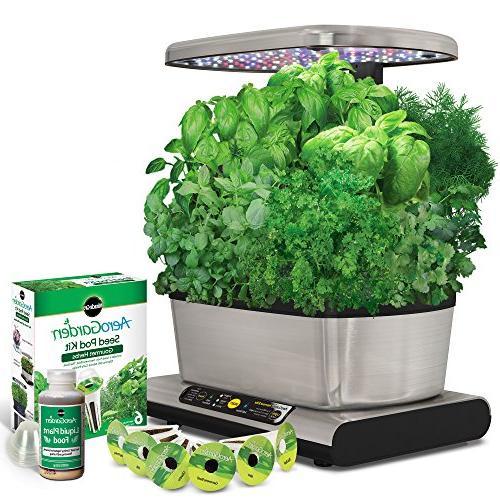 AeroGarden Harvest LED Stainless Gourmet Kit Tomato