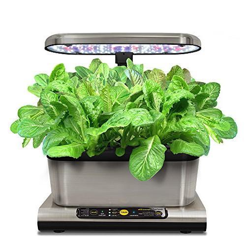 AeroGarden 6 Elite LED Stainless Gourmet Seed Kit Kit
