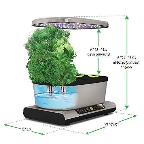 AeroGarden LED Stainless Gourmet Herb Kit Kit
