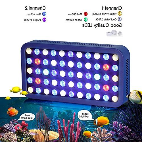TOPLANET 165W Bulbs LED Night Light Coral Reef LPS/SPS 55-75