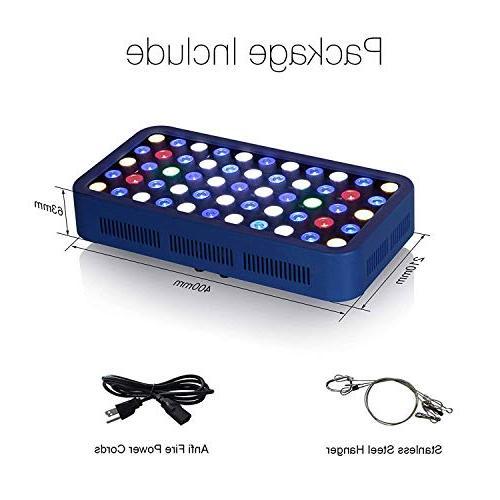 TOPLANET LED Aquarium 165W Fish Bulbs Full Spectrum Night for 55-75