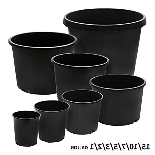 Calipots Premium Plastic Plant Container Pots