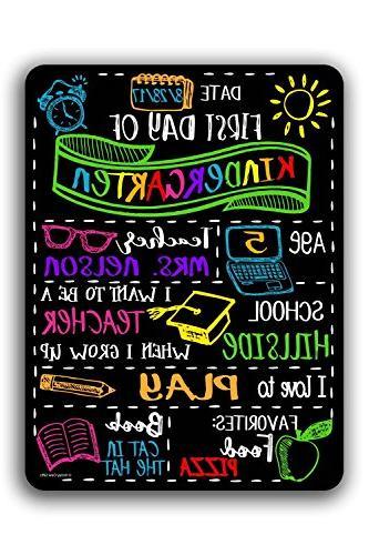 chalkboard first day school customizable