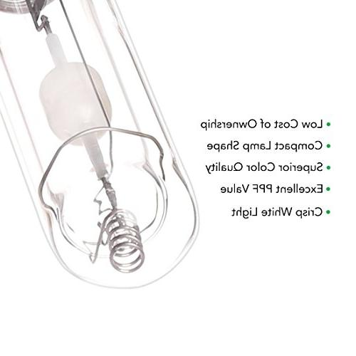 iPower Watt Grow Light Bulb Ceramic Metal Growing 4200K Stems Growing Superior Master CDM and Low