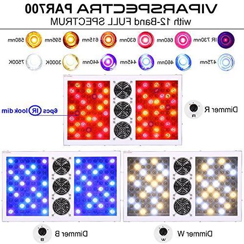 VIPARSPECTRA PAR700 700W LED Light - 12-Band Full Spectrum for Plants