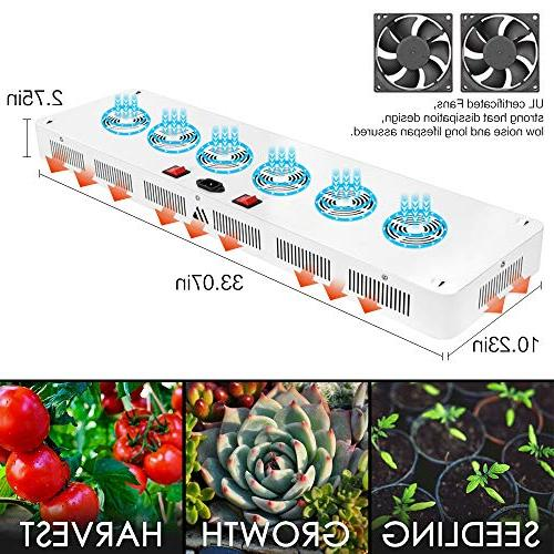 Dimgogo 2400w Double Chips LED Grow Spectrum Grow Lamp Greenhouse and Hydroponic Plants Flower