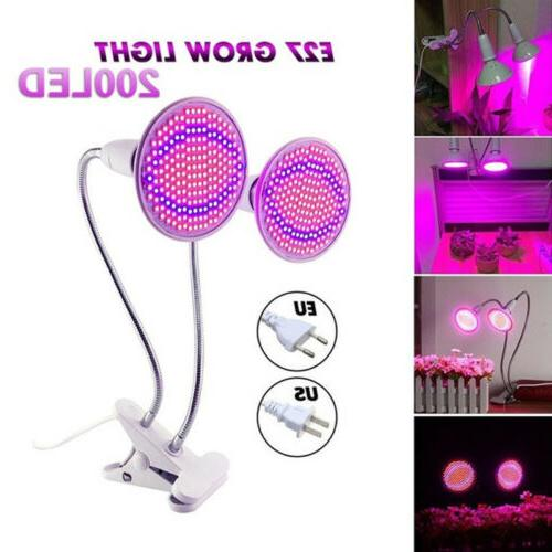Dual Head 400 Plant Light Bulb Desk Greenhouse Hydro