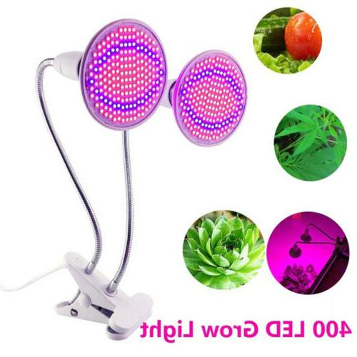 Dual Head 400 LED Plant Grow Bulb Desk Greenhouse