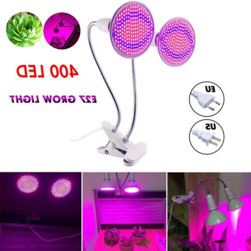 dual head 400 led plant grow light