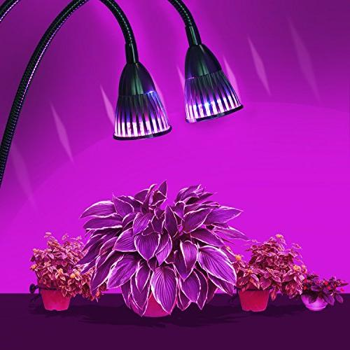 Dual Head Led Light, UNIFUN 10W on/Off Switch for Plants Office