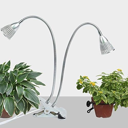 Dual Head Led Light, on/Off Switch for Plants Office