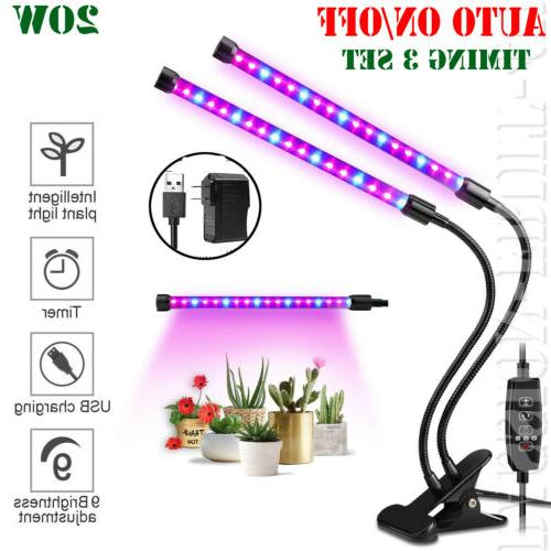 dual head plant grow light lamp 40