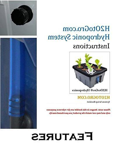 Hydroponic system Complete DWC BUBBLER Kit, 3-6