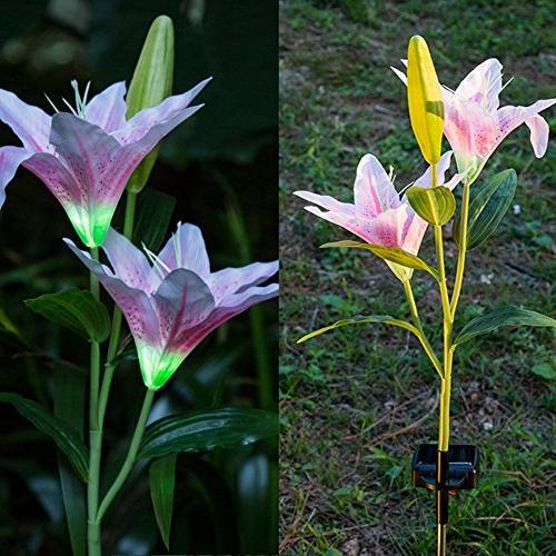 Flower LED Solar Power Lamp for Path