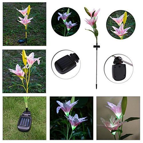 Flower ,Awakingdemi Lamp for Yard Garden Path
