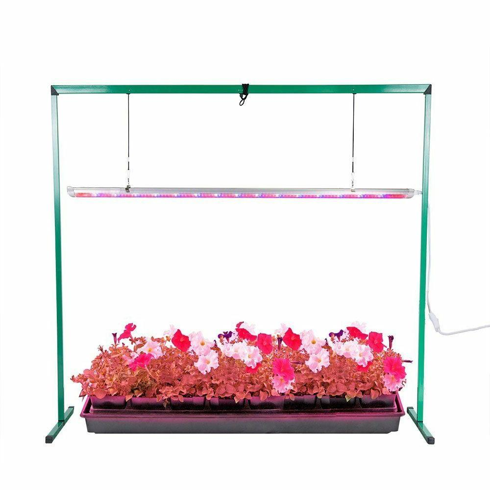 Full Spectrum LED 36W Grow Light System Stand Rack Seed Plan