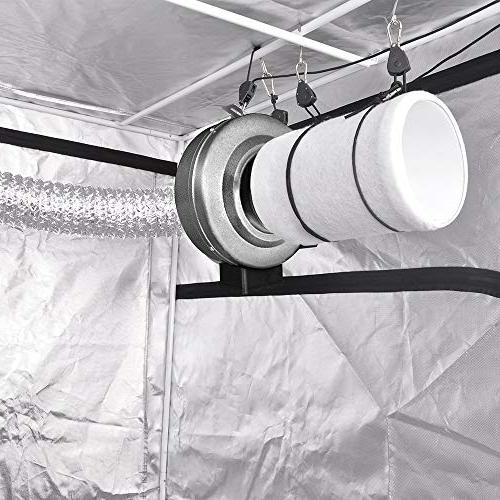 iPower 190 CFM Duct Inline with Filter 8 Feet for Grow