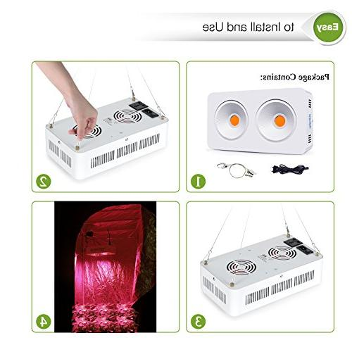 Roleadro COB Led Grow Light Plant Grow On/Off Switch and Daisy Chain and