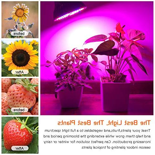 50W Bulb, Plant Full Grow for Indoor Vegetables and Seedlings, Plant Light for Hydroponics Indoor Organic Soil (E26 78LED