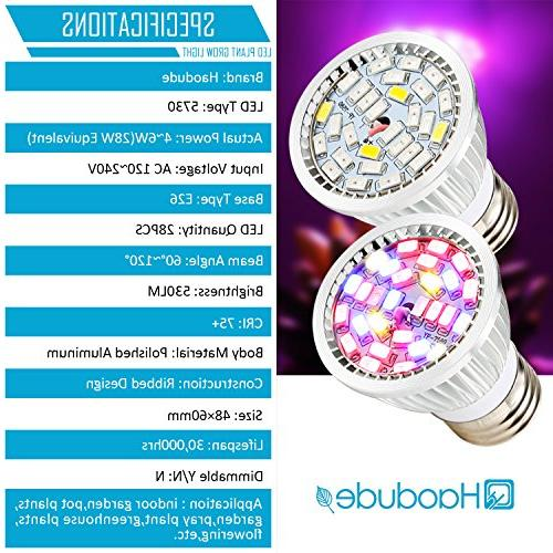 Led Grow Light 28W Spectrum Grow Lights Light for Organic, Tank, Plants,Pack of
