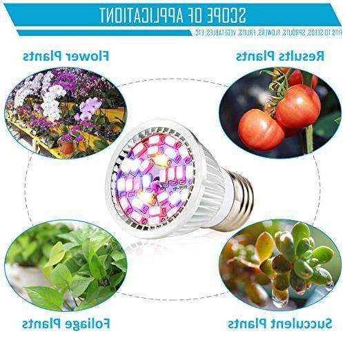 Led Grow Bulb, 28W Spectrum Lights Grow Plant Light Organic, Tank, Aquatic Indoor Plants,Pack of 1