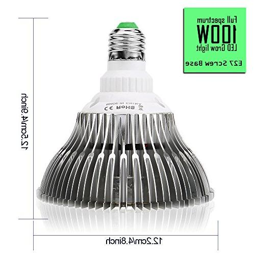 Bulb Spectrum,Plant Bulb with LEDs for Indoor Lamp Hydroponic Garden Greenhouse Succulent Veg Flower