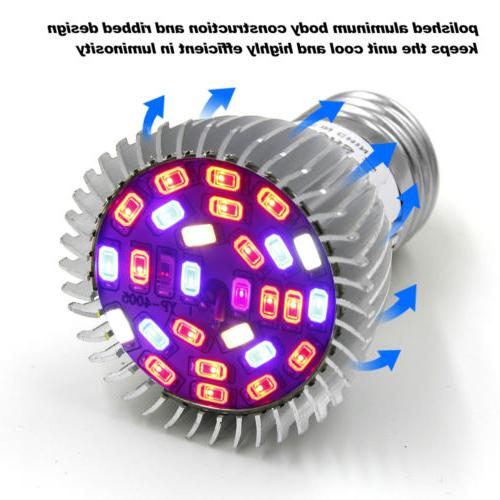 4Pcs LED Light E27 Bulb for Garden Hydroponic Full