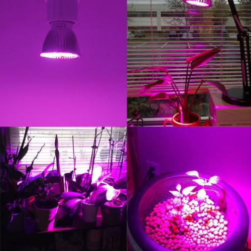 4Pcs LED Light E27 Bulb for Garden Plant Hydroponic Full