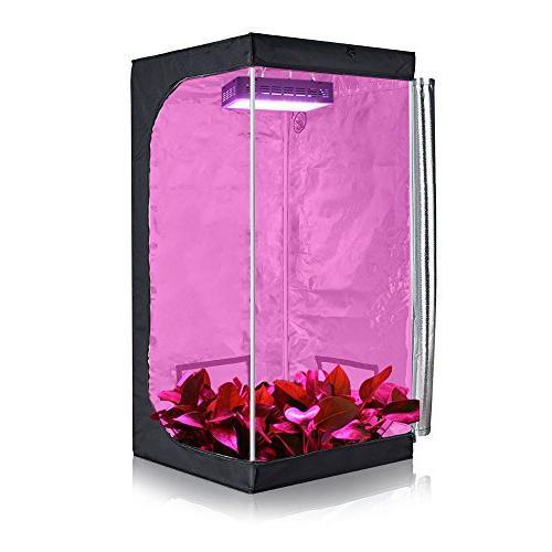 """TopoGrow Light kit W/32""""X32""""X63"""" 600D Grow W/Green Window Germination Kits"""