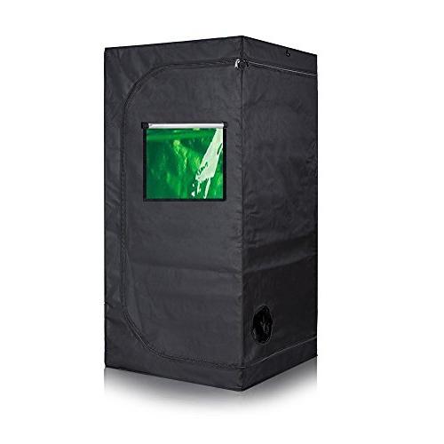 TopoGrow 300W Light 600D Grow Tent Window Package System,