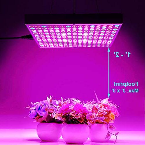 Hytekgro Grow Light 45W Lights Blue White Panel Lamps Seedling Vegetable and