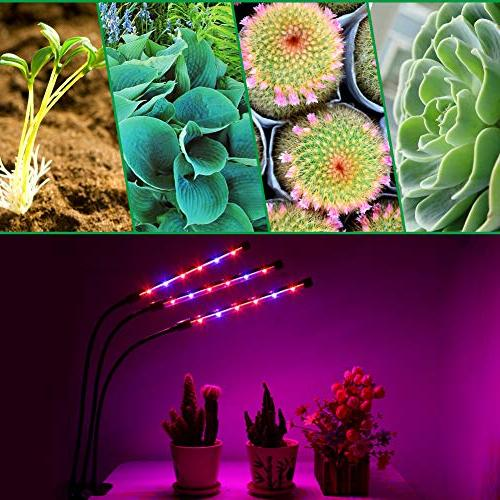 Grow Light, Auto ON/Off Every Day 36W Lights Plants, Triple with 8 Dimmable 4/8/12H Memory for Hydroponics Greenhouse Gardening