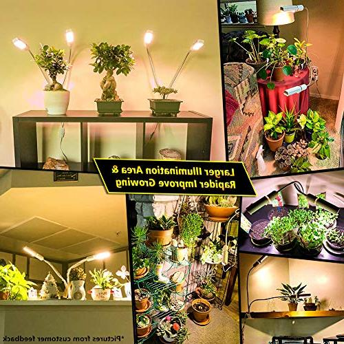 LED Grow Indoor Relassy Sunlike Full Lamp, Dual Plant Bulb, Double for Blooming Fruiting