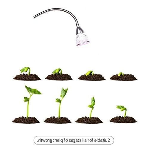 Grow Hgrope LED Light with Spring Desk Growing Lamp for Indoor Garden and Flowers