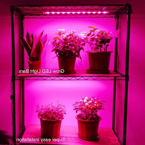 Grow 45W 4 9.6W Extendable 16 LED Light Strip Plant Grow Installation-