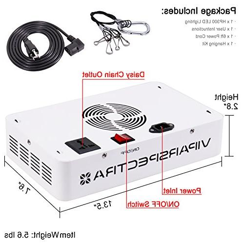 VIPARSPECTRA 300W Grow for Fresh Vegetables, Greens, Flowers and More