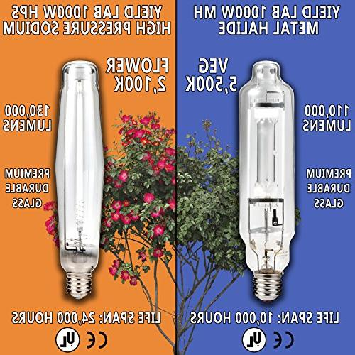 Yield Lab HPS Cool Hood Easy Setup System Plants Timer and Grow Guide DVD