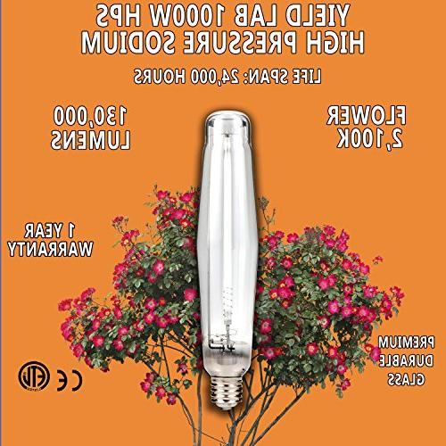 Yield Lab Horticulture 1000w HPS Grow Light Wing
