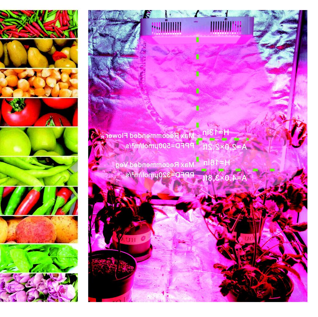 Hydro 3000W LED Grow Light Spectrum Veg Bloom Plant Panel Lamp