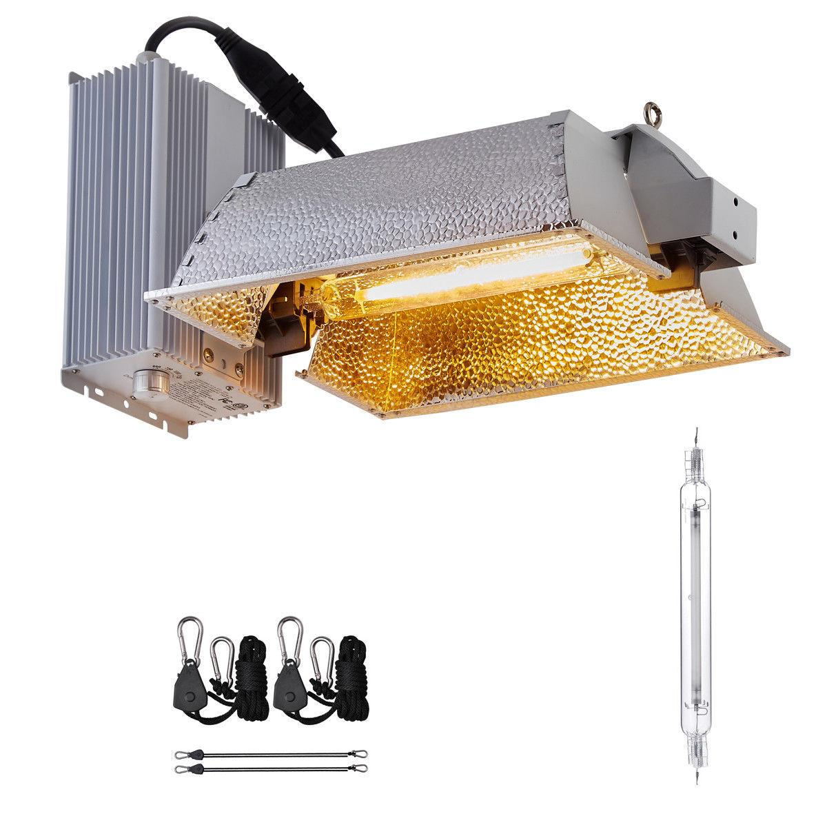 Hydroponic 1000W Ended Fixture kit W/Bulb Indoor Grow