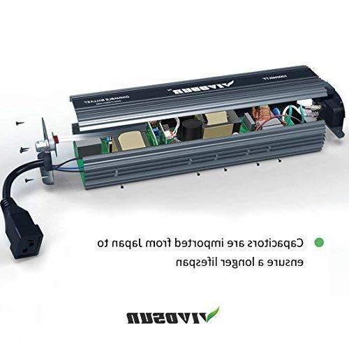 VIVOSUN 400 Watt HPS Air Cooled Reflector - up, High Stability Compatibility