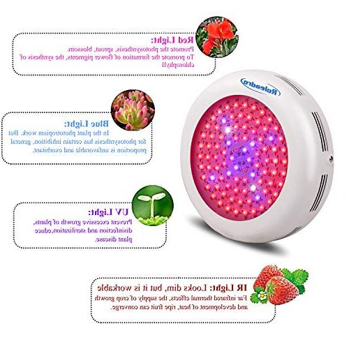 Roleadro Led Grow Light Grow Light Patio Grow Lamp with Red Spectrum, Light Hydroponics, Germination, flower,