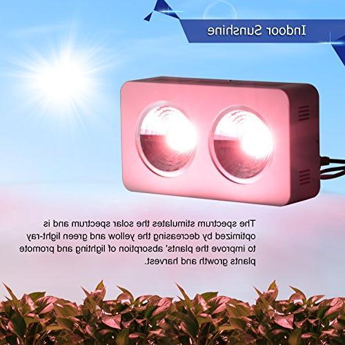 Lightimetunnel 400w Hydroponics LED Grow Light Spectrum COB Veg
