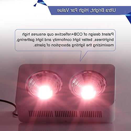 Lightimetunnel Hydroponics Grow COB Reflector Plant Veg Lamp